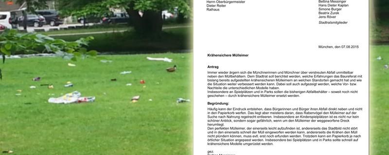 SPD will neue Mülleimer für München