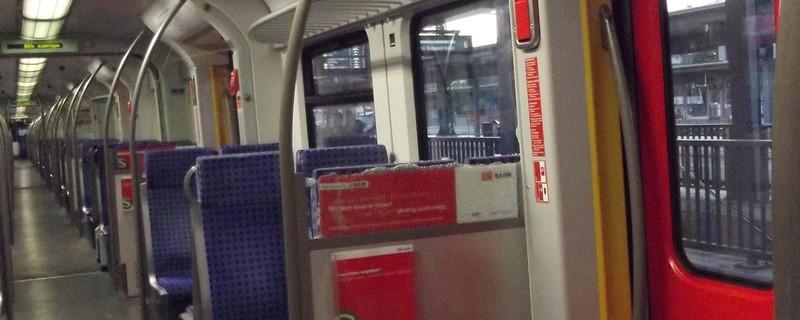 S-Bahn Scheibe zerschlagen in München