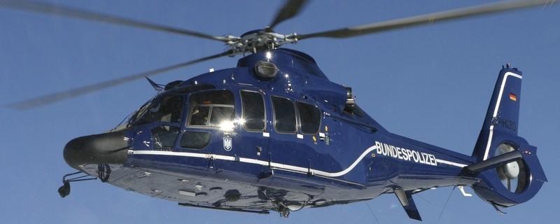 Bundespolizei Hubschrauber im Einsatz, © Foto eines Hubschraubers der Bundespolizei im Einsatz