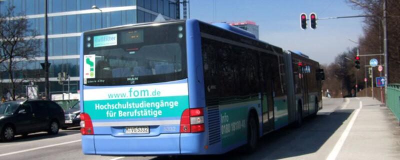 Bus steht an Haltestelle, © Bus der MVG  (Symbolfoto)