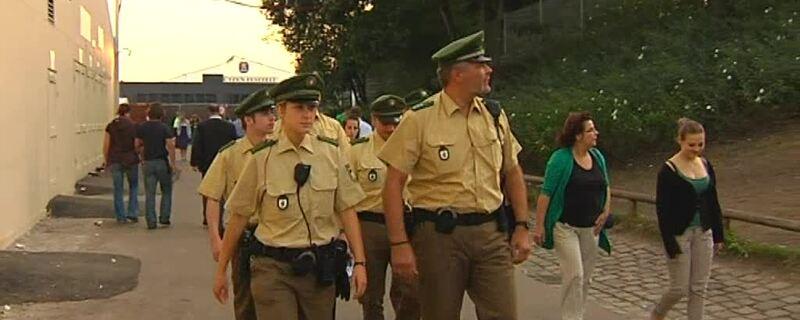 Polizei im Einsatz auf dem Oktoberfest, © Sicherheit auf der Wiesn
