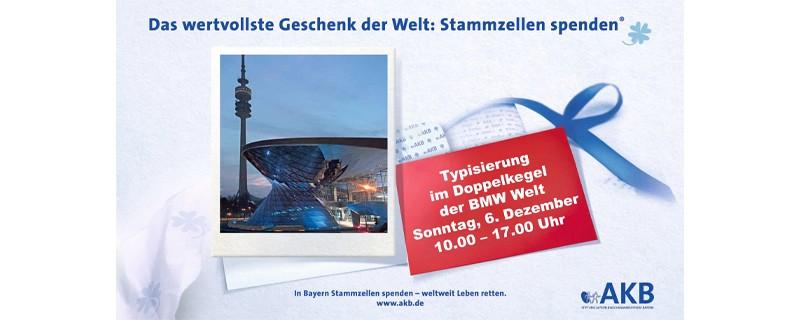 Veranstaltungsplakat Typisierungsaktion der AKB in der BMW Welt, © Veranstaltungsplakat - Bild: AKB