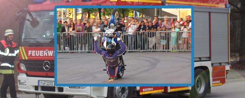 © Motorrad-Burnout im Büro ruft Feuerwehr auf den Plan - Symbolfoto