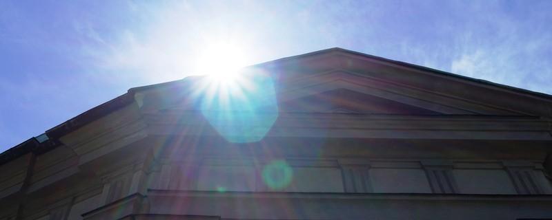 Schönes Wetter in München  Sonne im Hofgarten