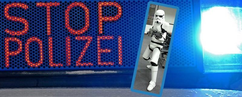 Star Wars Kostüm Startrooper, © Ein Stormtrooper hat in Dachau für Furore gesorgt. Stormtrooper-Foto: Andreas Neumann