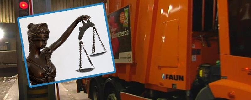 Müllabfuhr, Müllmann Müllfahrzeug im Dienst, © Weil er Trinkgeld angenommen haben soll, muss sich ein Münchner Müllmann vor Gericht verantworten.