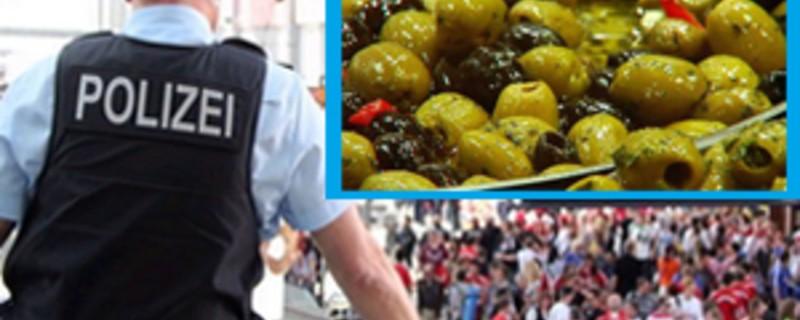 bundespolizei am hauptbahnhof mit antipasti im bild, © Dieb bewirft Angestellten mit Antipasti