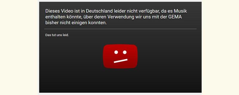 Youtube Gema Video nicht verfügbar