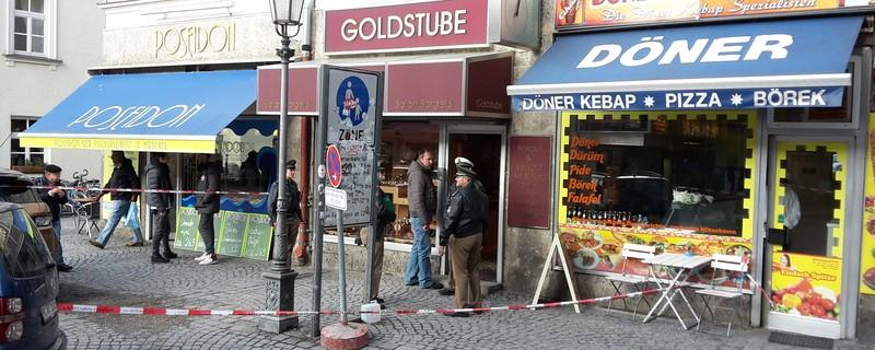 Einbruch Juwelier Diebstahl, © Der abgesperrte Tatort.