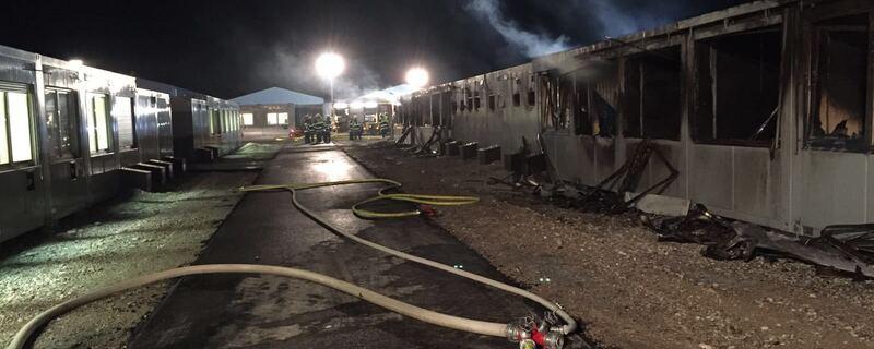 Der Schaden nach dem Brand in den Wohncontainern., © Der Schaden nach dem Brand in den Wohncontainern.