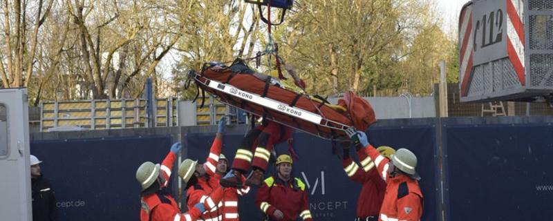 bergung baustelle feuerwehr, © Foto der Berufsfeuerwehr München