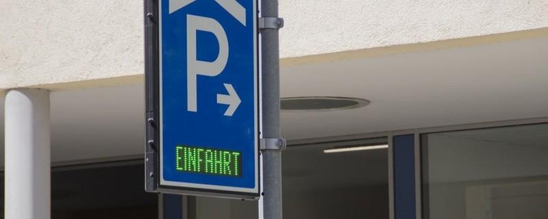 Parkhaus Einfahrt