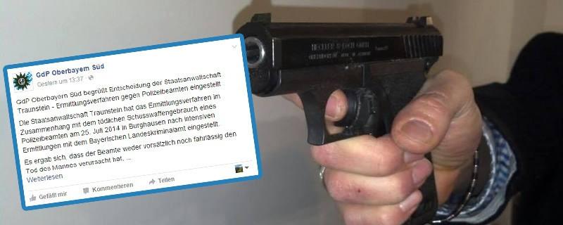 © Die GdP Oberbayern Süd verärgert die Netzgemeinde mit ihrem Statement zum tödlichen Kopfschuss in Burghausen.