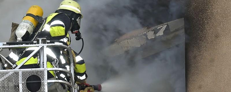 Feuer Brand in Wohnung München, © Symbolfoto einer ausgebrannten Wohnung - Foto der Berufsfeuerwehr München