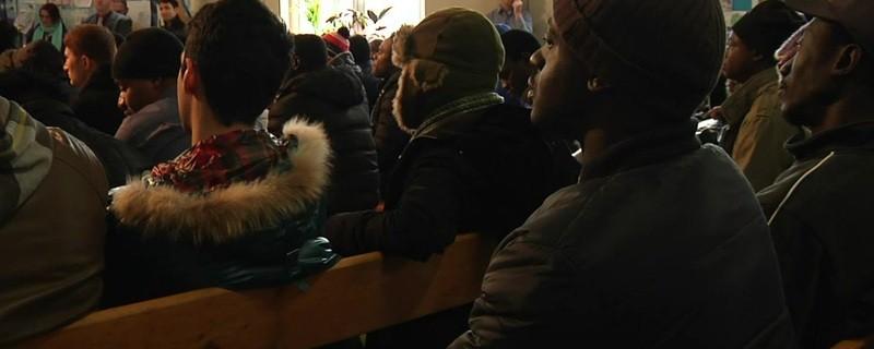 © Rechtskunde-Unterricht für Flüchtlinge in der Bayernkaserne in München