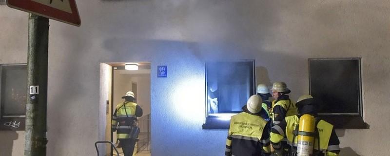 © Brand durch Herdplatte. Foto: Berufsfeuerwehr München