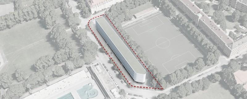 Parkplatz-Überbauung Visualisierung der Architekten, © Foto: Gewofag