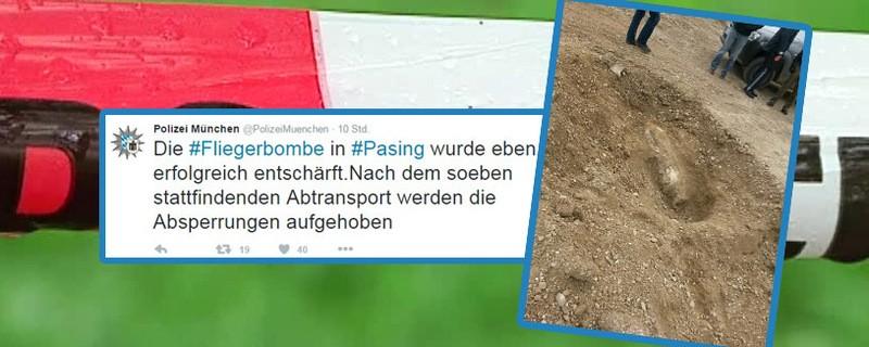 © Die Fliegerbombe in Pasing wurde ohne Komplikationen entschärft.