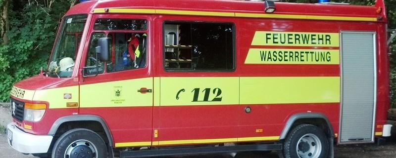 Einsatz der Wasserrettung Feuerwehr