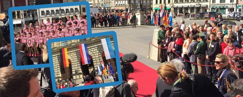 © Empfang: Willem-Alexander und Maxima besuchen München