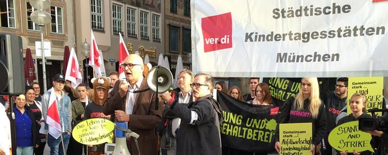 Streiks im öffentlichen Dienst - verdi Kundgebung