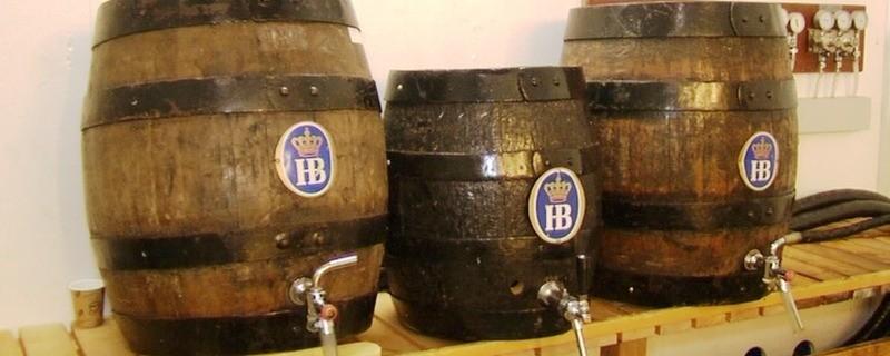 Hofbräu Bierfässer