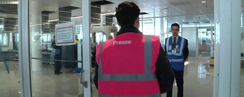 Das Satellitenterminel am Münchner Flughafen
