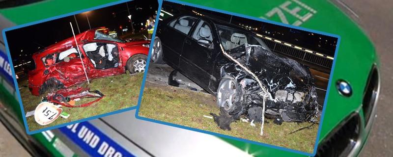 Unfallfotos von Autos, © Symbolbilder - Fotos der Polizei München