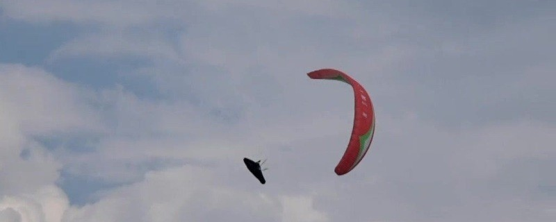 Gleitschirmflieger in Oberbayern