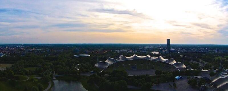 Olympiapark, Stadion und Himmel