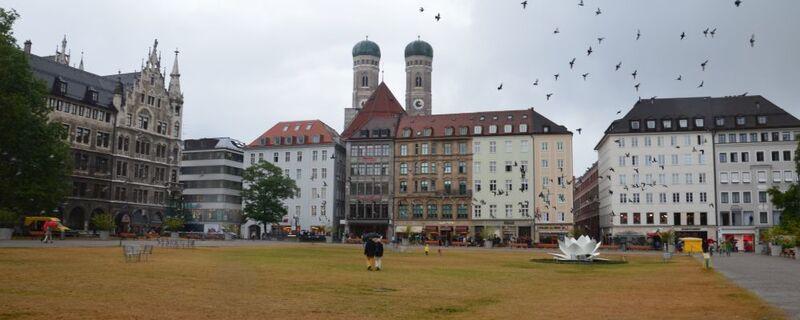 München bei schlechtem Wetter