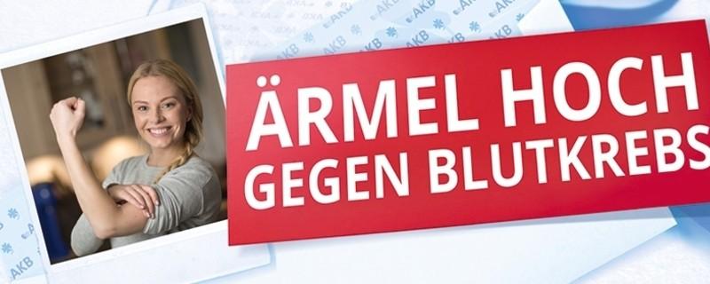 """Ein Werbeplakat gegen Blutkrebs, © """"Bayern gegen Leukämie """" - Aktionstag am 25.Mai 2016 in Bayern"""