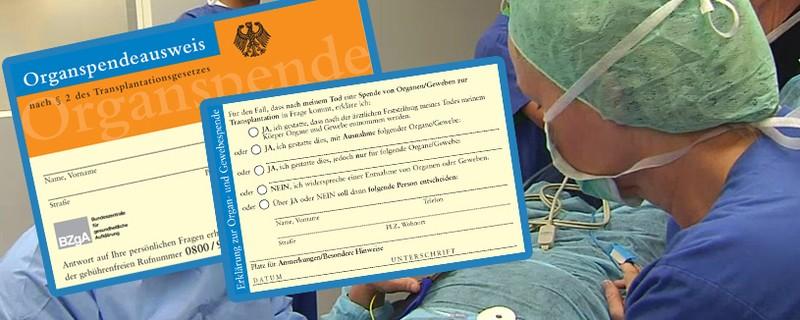 Organspendeausweis, © Organspende kann Lebensjahre schenken
