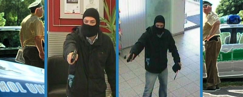 Der gesuchte Bankräuber, © Fotos: Polizei