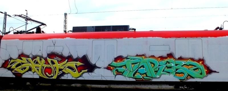 Graffiti an einer Münchner S-Bahn, © Foto: Polizei