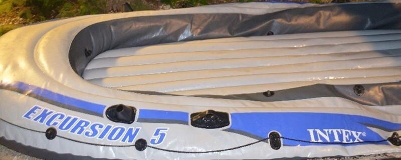 Verünglücktes Schlauchboot., © Foto Polizei