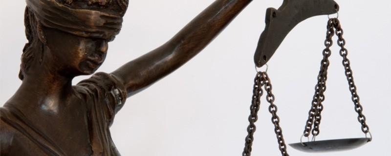 Justitia ist blind. Gerechtigkeit vor Gericht. , © Symbolbild