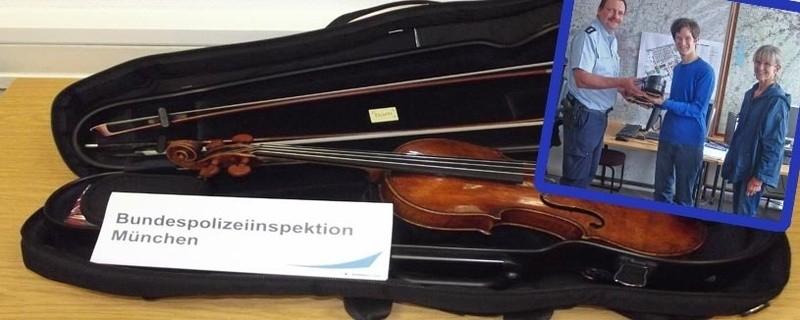 """""""Landolfi""""-Geige sichergestellt, Täter ermittelt, © Fotos: Bundespolizei"""