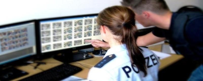 Auswertung der Videoaufnahmen, © Videoauswertung, Foto: Polizei