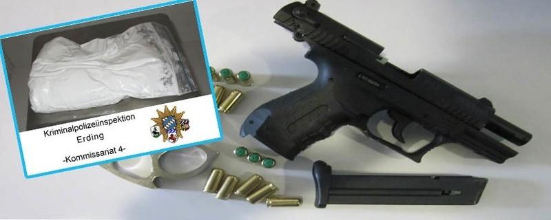 Erdinger Polizei stellt Amphetamin und Waffen sicher., © Foto: Polizei
