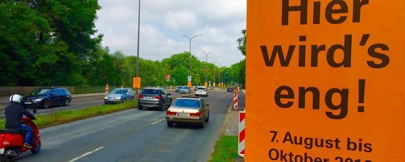 Isarring, Baustelle, Stadtautobahn, Verkehrsinfarkt, Verkehrschaos, © Droht der Verkehrsinfarkt?