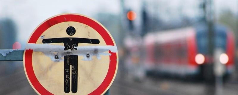 Verbotsschild S-Bahn Gleise nicht betreten, © Foto: Bundespolizei