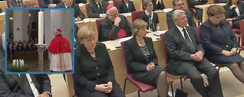 Landtag und Frauenkirche München: Trauer nach Amoklauf Angela Merkel und Joachim Gauck