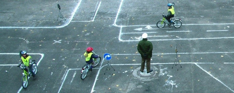 Schüler üben für den Fahrradführerschein, © Foto: Polizei