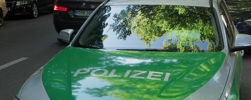 Polizeiauto im Einsatz, ©