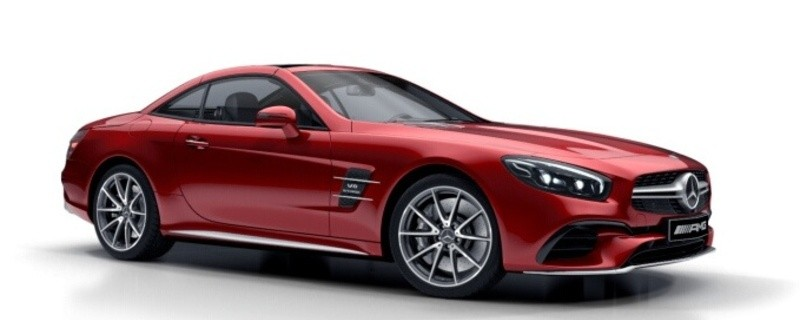 © Es handelt sich um ein Vergleichsbild des roten AMG-Mercedes - Foto bereitgestellt durch die Polizei