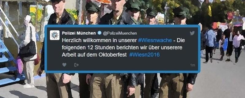 Polizei twittert von der Wiesn