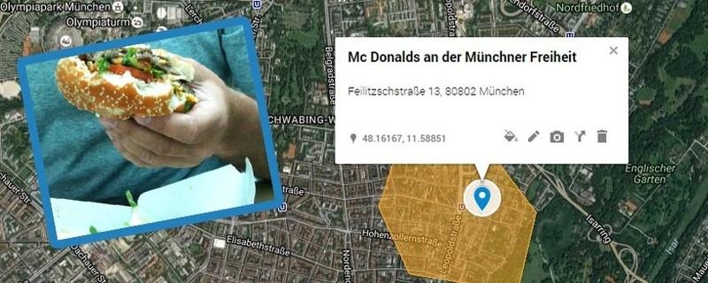 © Im Umkreis von rund 2 Kilometern will die McDonalds Filiale an der Münchner Freiheit ausliefern.