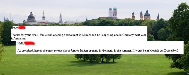 © Eien Restaurant-Eröffnung der Jamie Oliver-Kette in München wurde mehrmals dementiert.