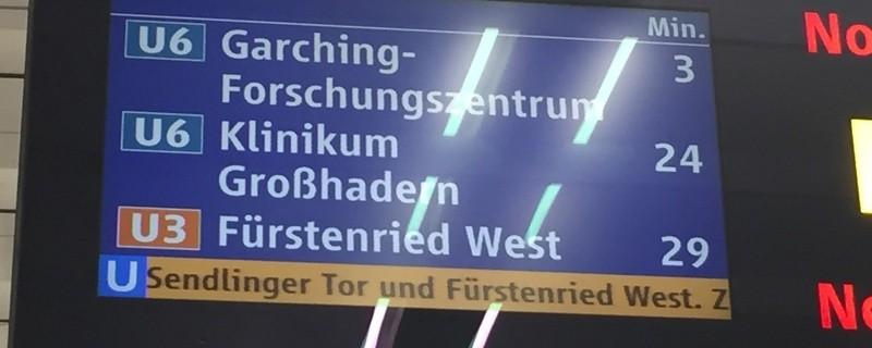 U3, U6, U-Bahn, Verspätung, Anzeige, © Münchens Pendler brauchen mal wieder viel Geduld